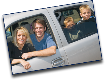 Family in SUV
